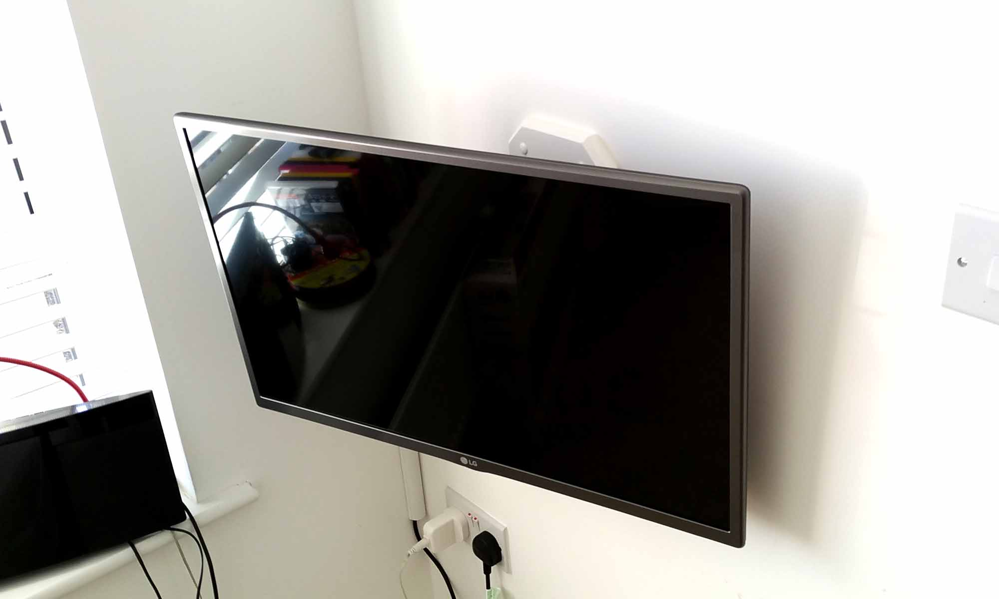 TV On Hollow Wall