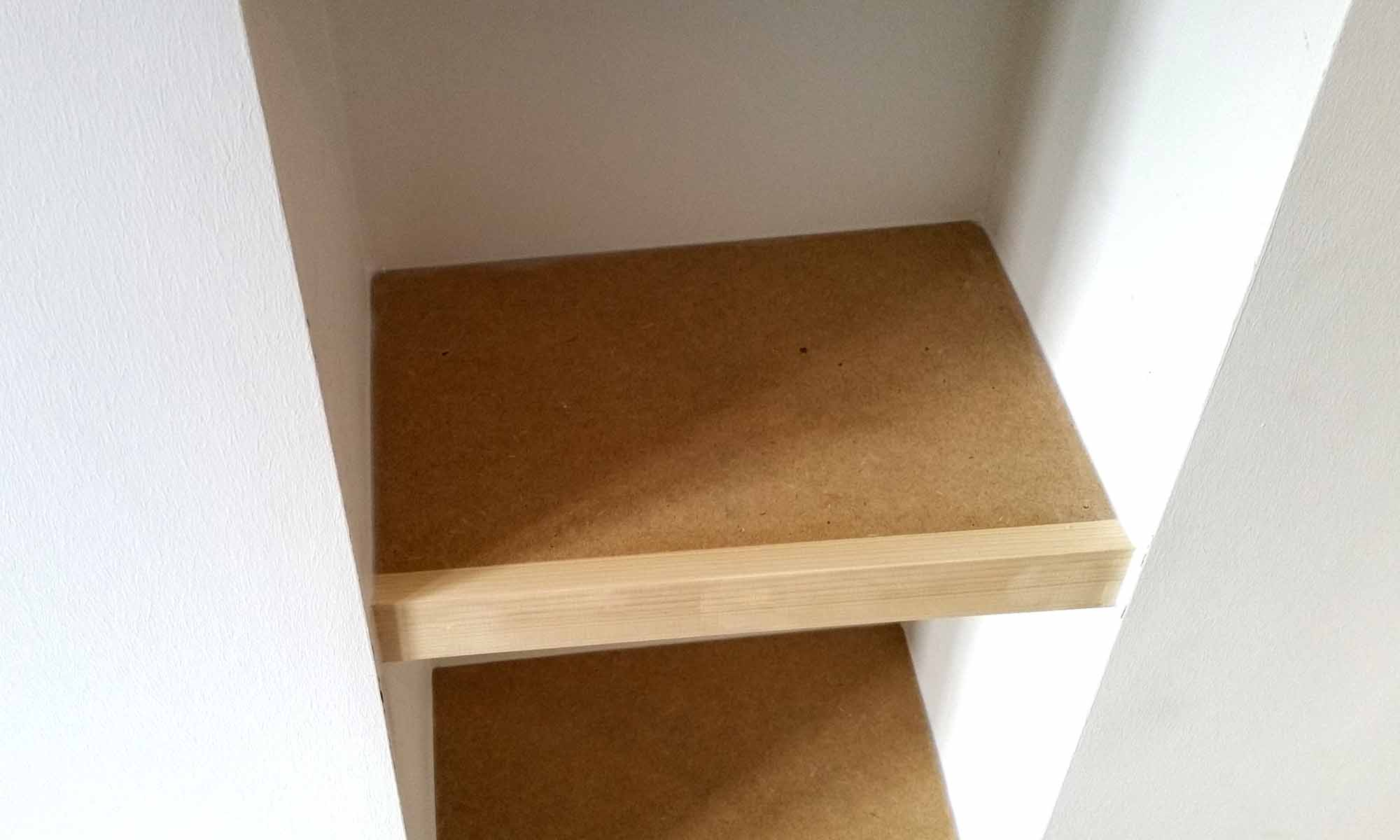Scribe Shelves in Alcove