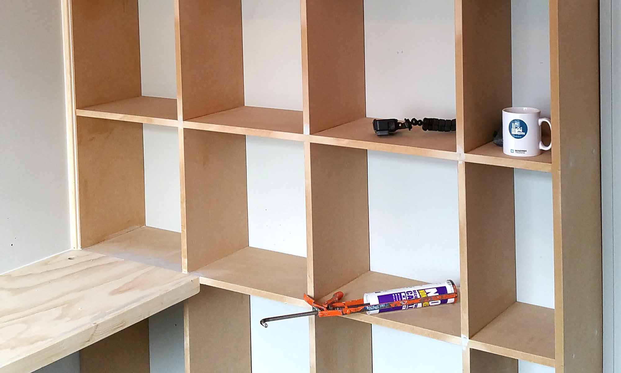 Making Mdf Cube Storage Bookcase Desk Gosforth Handyman