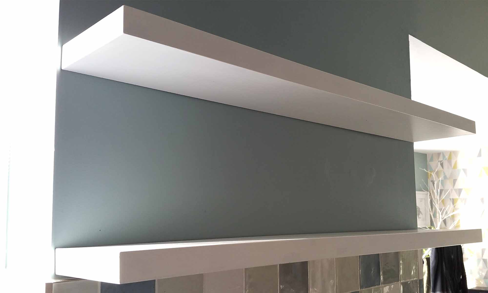 White Gloss Floating Shelves