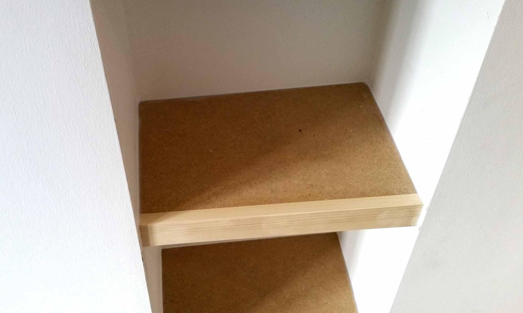 Scribe Shelves in Alcove