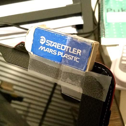 Eraser on Power Button