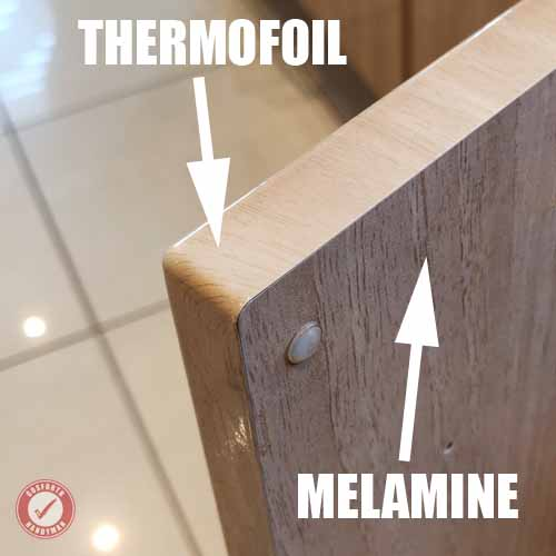 Thermofoil vs Melamine