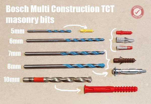 Bosch TCT masonry drill bits