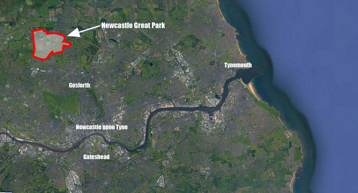 Where is Newcastle Great Park